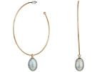 LAUREN Ralph Lauren Hoop with Fresh Water Pearl Drop Earrings