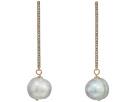 LAUREN Ralph Lauren Pave Bar with Fresh Water Pearl Drop Earrings