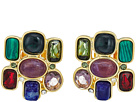 LAUREN Ralph Lauren Stone Cluster Button Clip Earrings