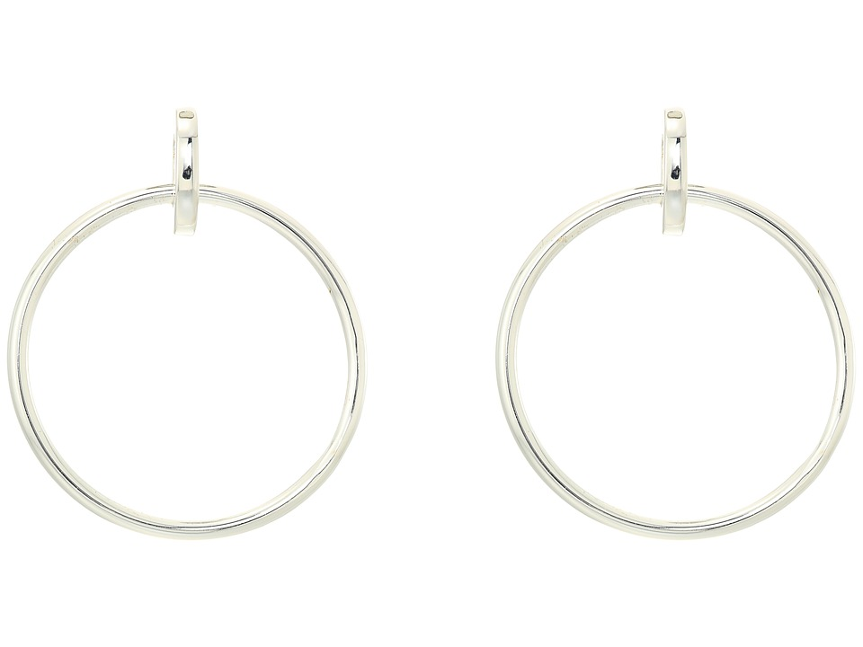 LAUREN Ralph Lauren - Door Knocker Earrings (Silver) Earring