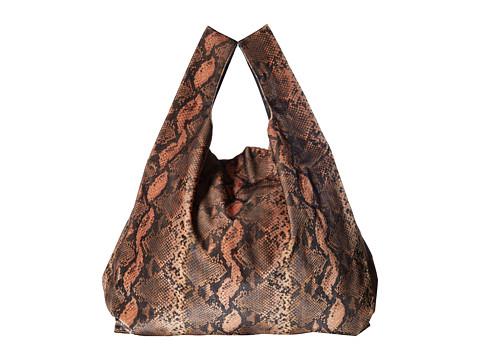 MM6 Maison Margiela Velvet Shopper - Brown Python Print Velvet