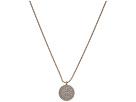 LAUREN Ralph Lauren 16 Pave Disc Pendant Necklace