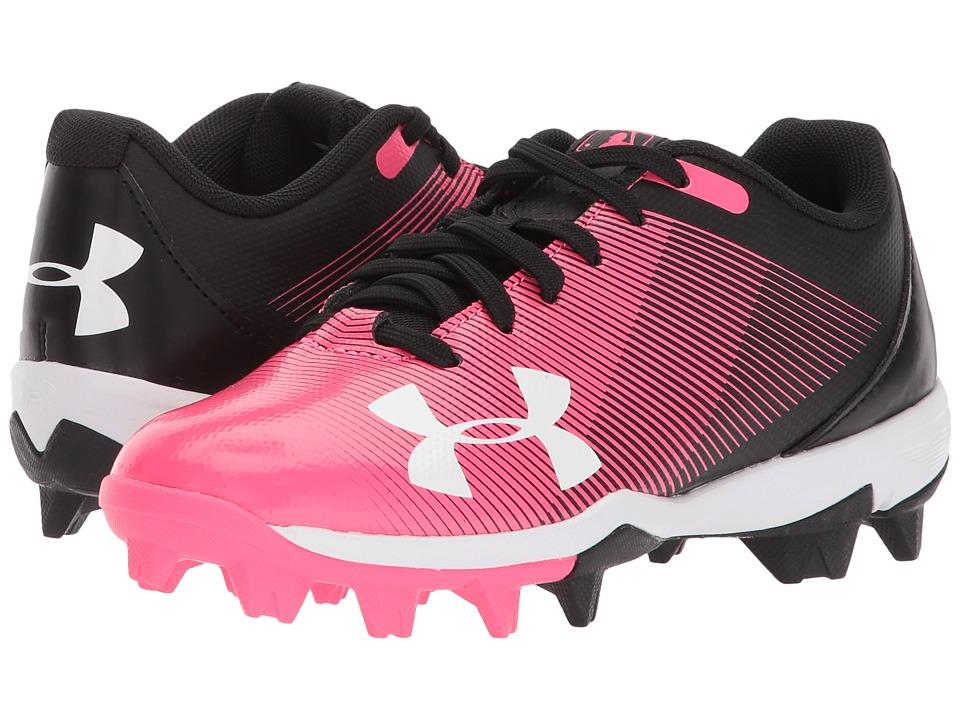 Under Armour Kids Leadoff Low RM Jr. Softball (Toddler/Little Kid/Big Kid) (Black/Cerise) Girls Shoes