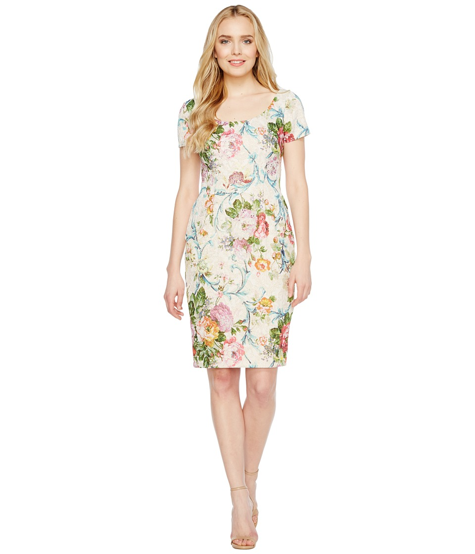 Adrianna Papell - Scoop Neck Matelasse Sheath Dress