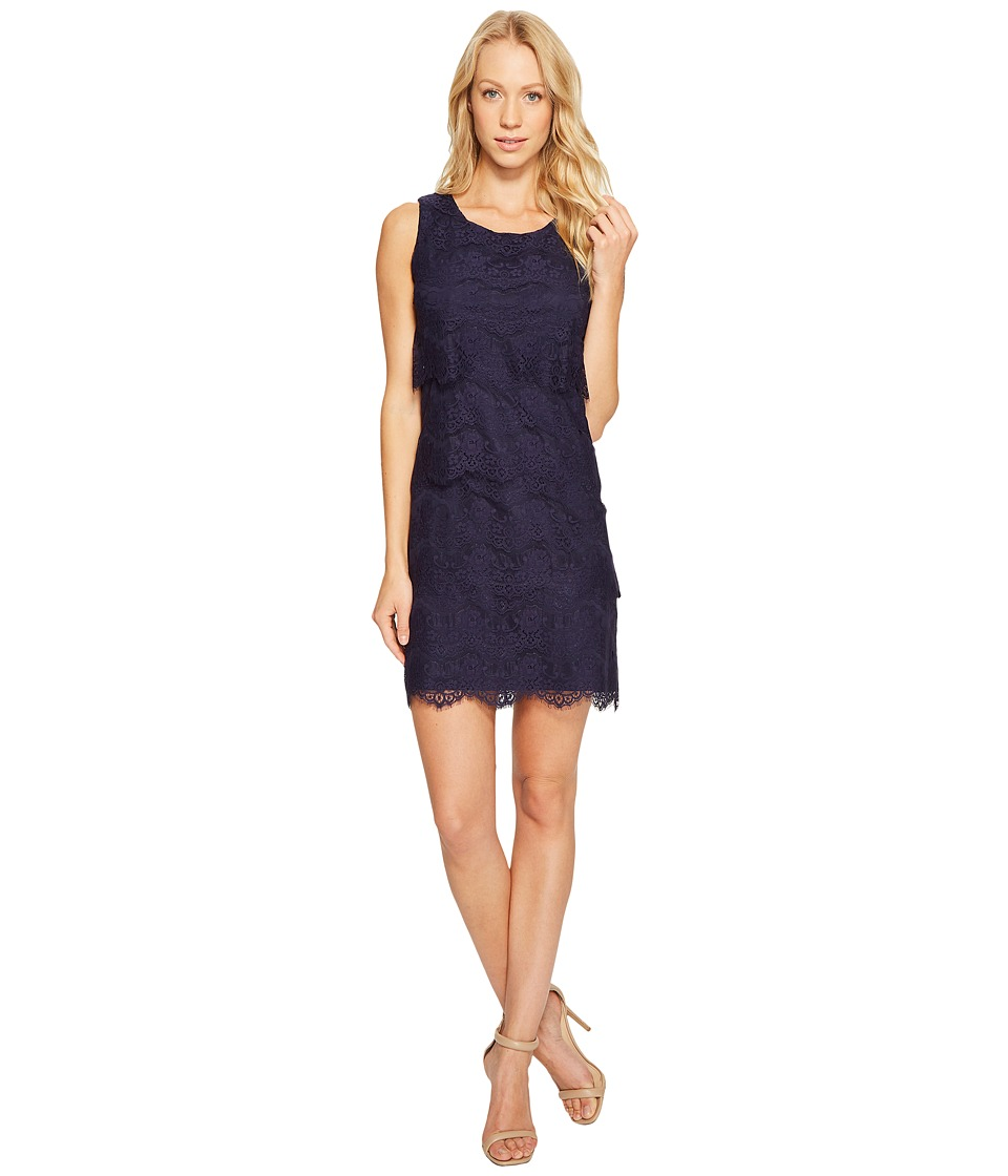 Jessica Simpson - Tiered Lace Dress JS4R4533 (Navy) Womens Dress