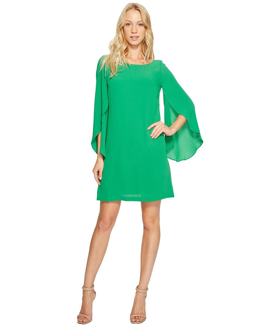 Jessica Simpson Flutter Sleeve Dress JS6R8411 (Green) Women