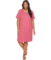 Extra Fresh by Fresh Produce - Plus Size Pinstripe Allure T-Shirt Dress
