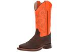 Old West Kids Boots Broad Square Toe (Big Kid)