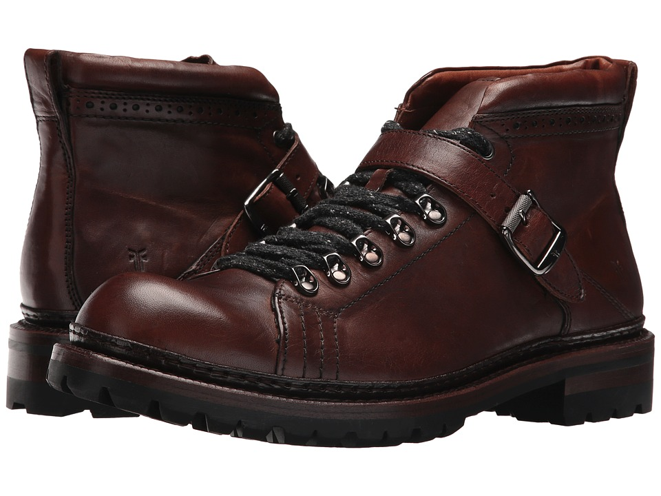 Frye George Norwegian Hiker (Cognac Vintage Pull Up) Men