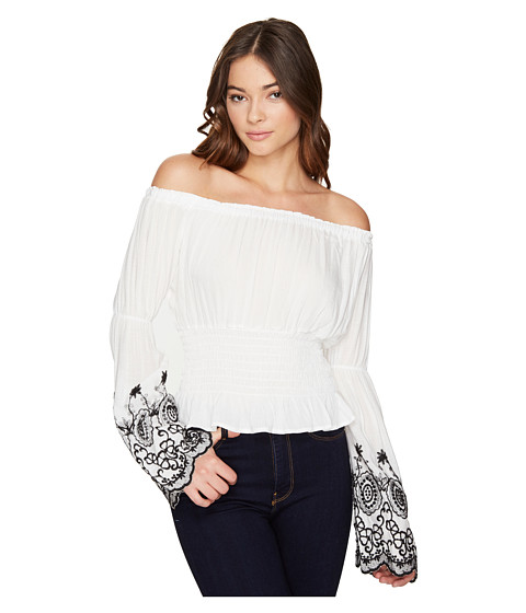 ROMEO & JULIET COUTURE Off the Shoulder Embroidery Top