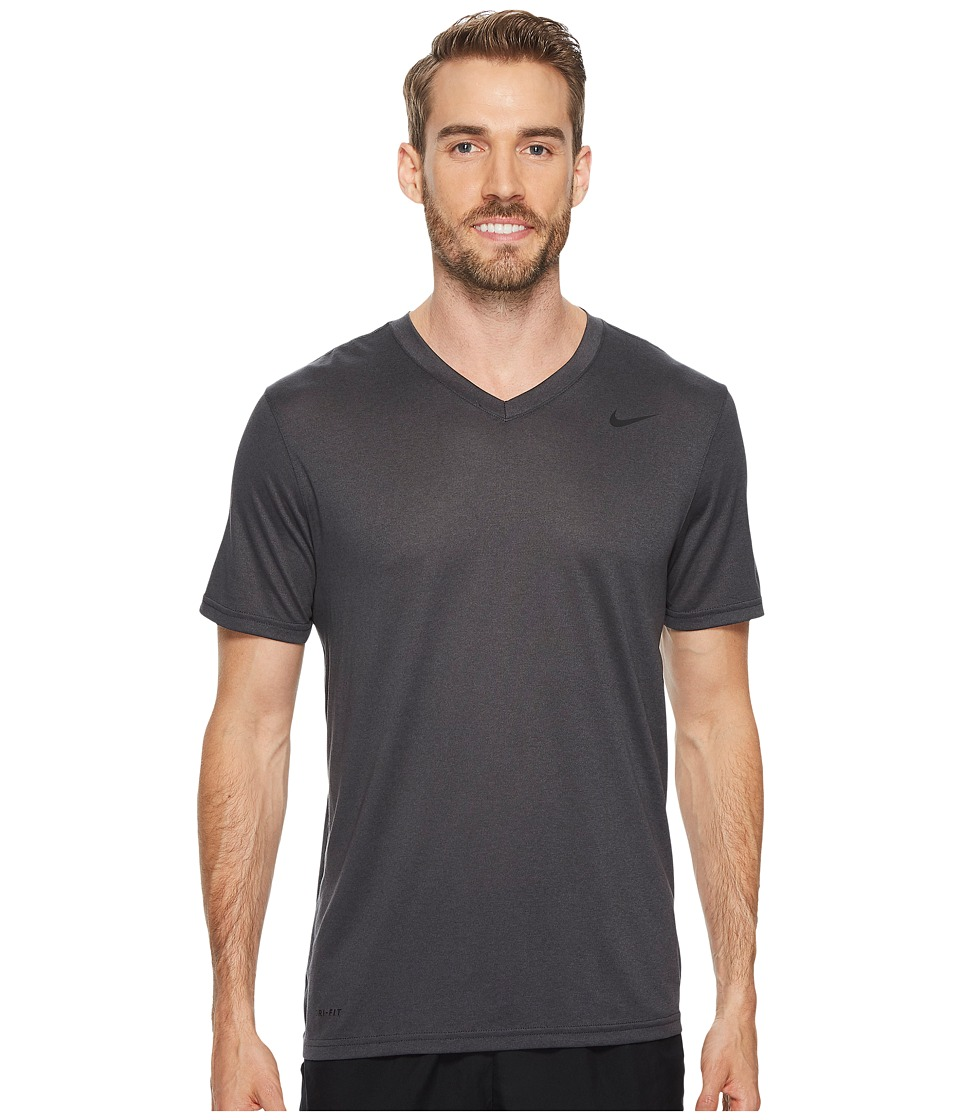 Nike Legend 2.0 Short Sleeve V-Neck Tee (Anthracite/Black) Men