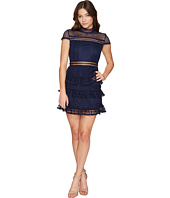 ROMEO & JULIET COUTURE - Cap Sleeve Mock Neck Lace Dress