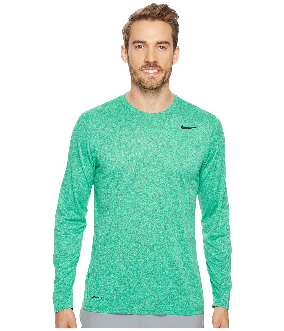 Nike Legend 2.0 Long Sleeve Tee (Neptune Green/Illusion Green/Heather/Black) Men