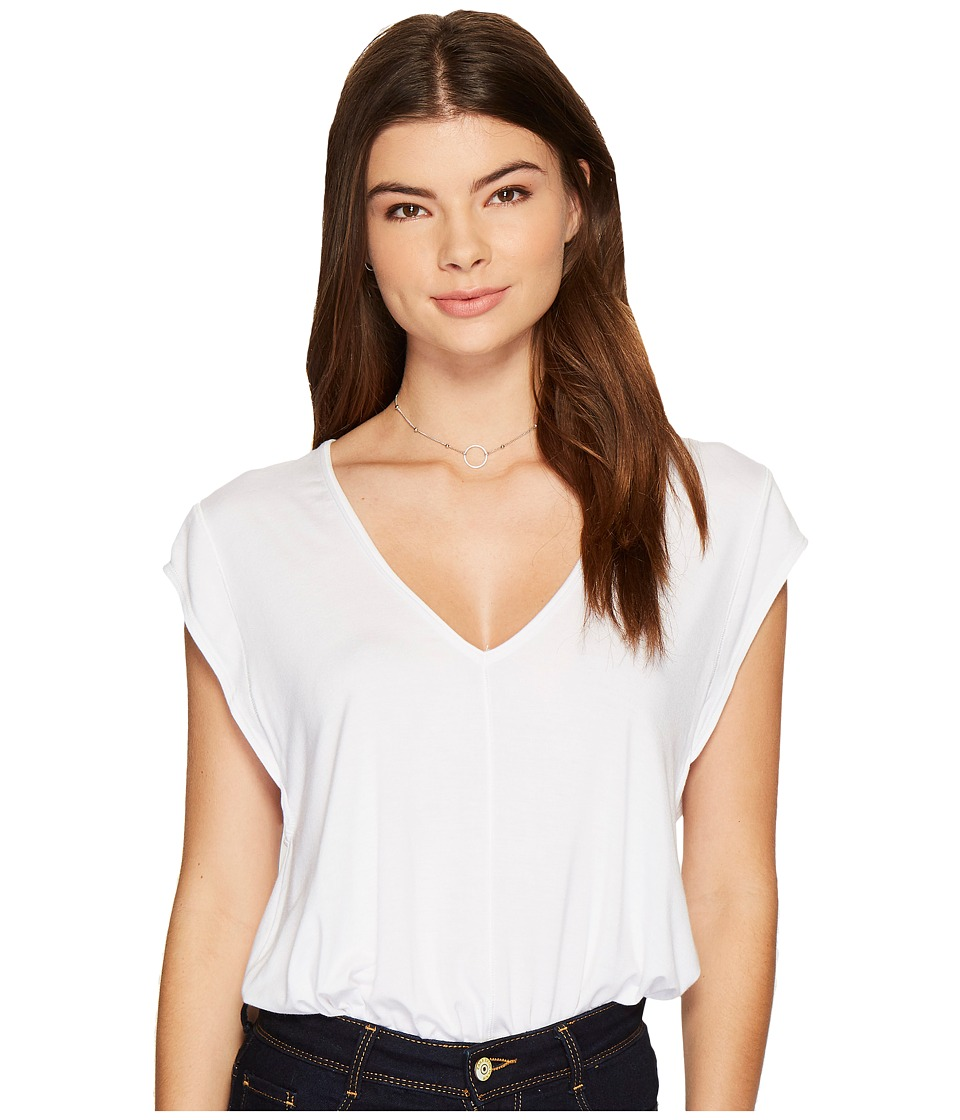 Free People Tee For My Jeans Bodysuit (White) Women