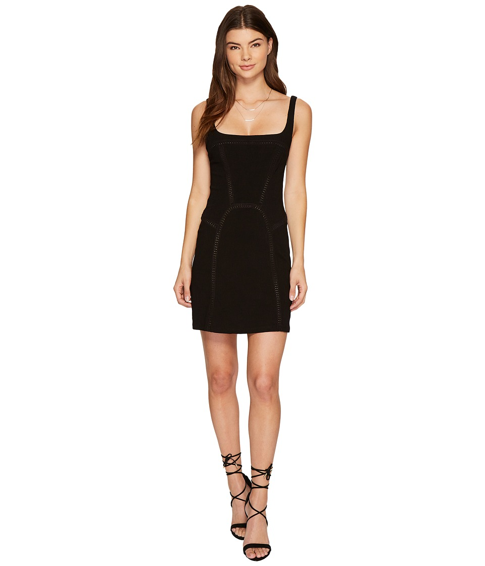 Free People Beyond Me Fit Flare Dress (Black) Women