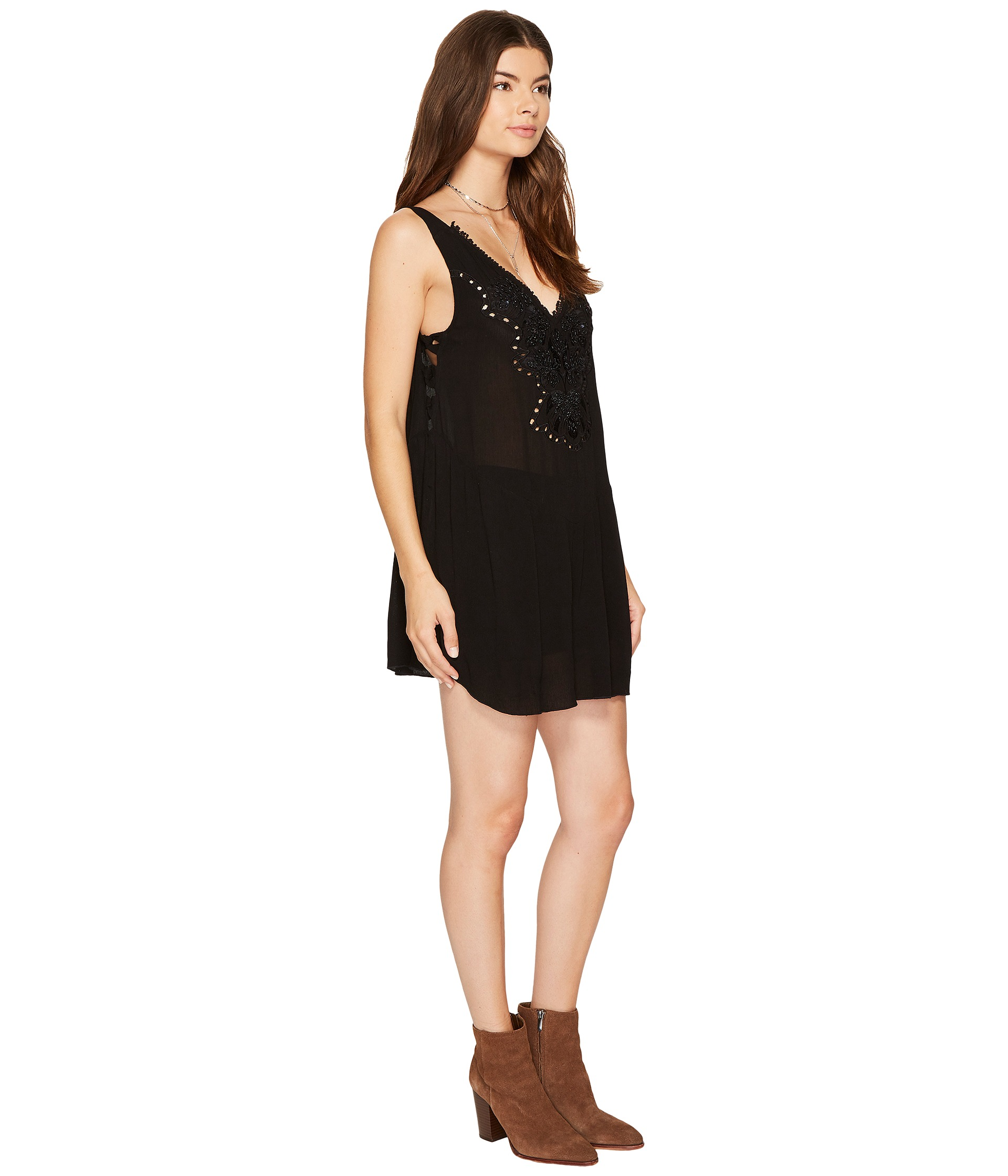 Free People Delphine Embellished Slip At Zappos.com