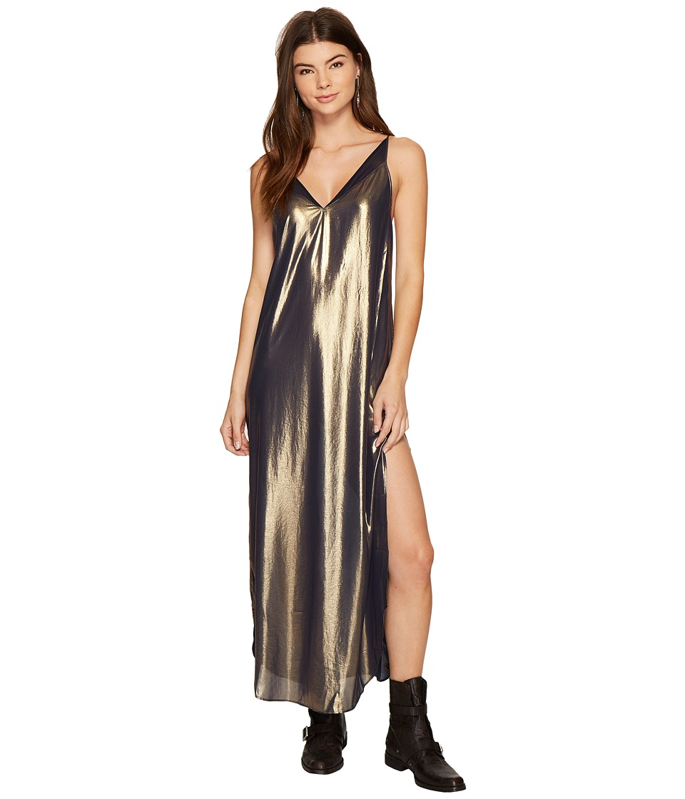Free People Anytime Shine Maxi Slip (Gold) Women