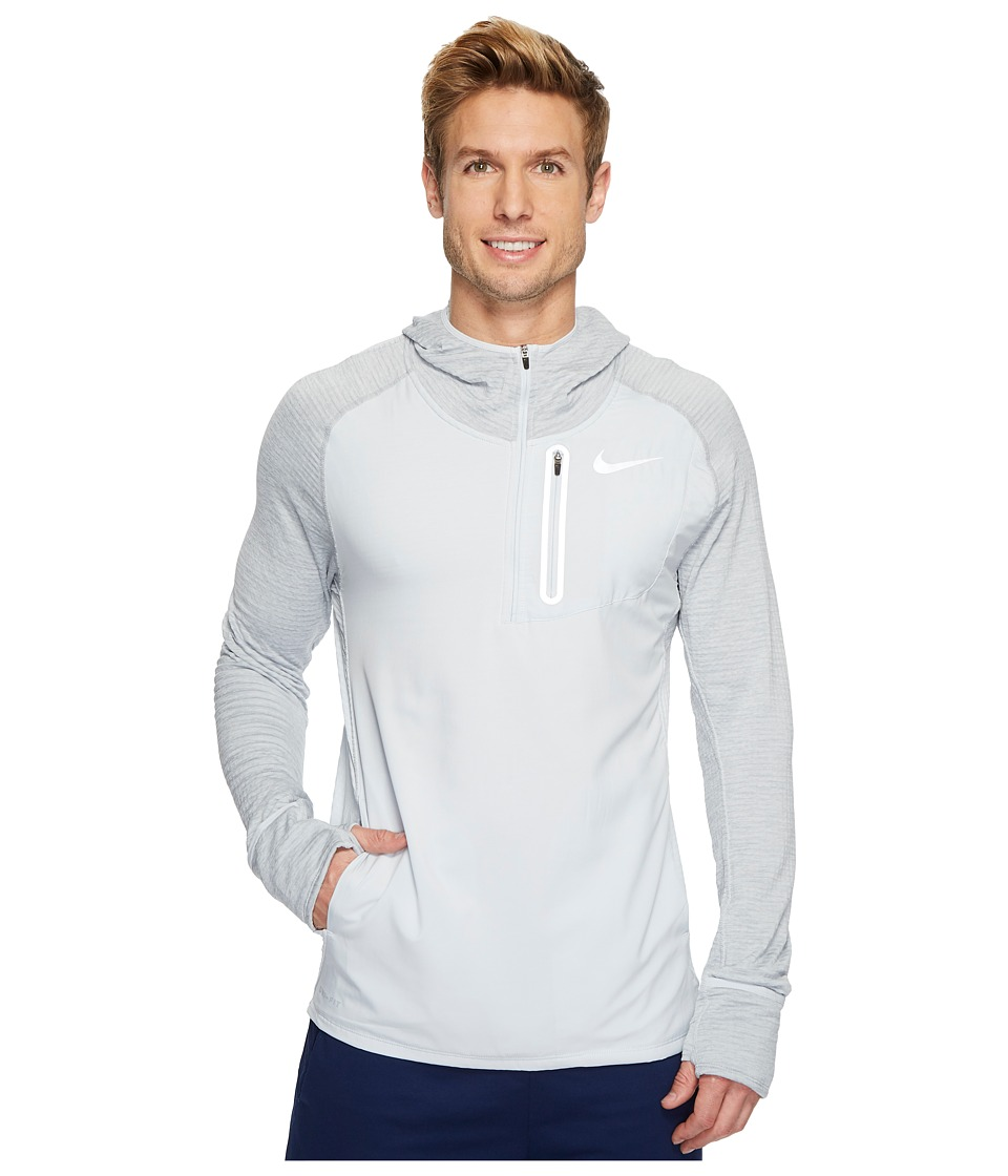 Nike Therma Sphere Running Hoodie (Pure Platinum/Wolf Grey/Heather) Men
