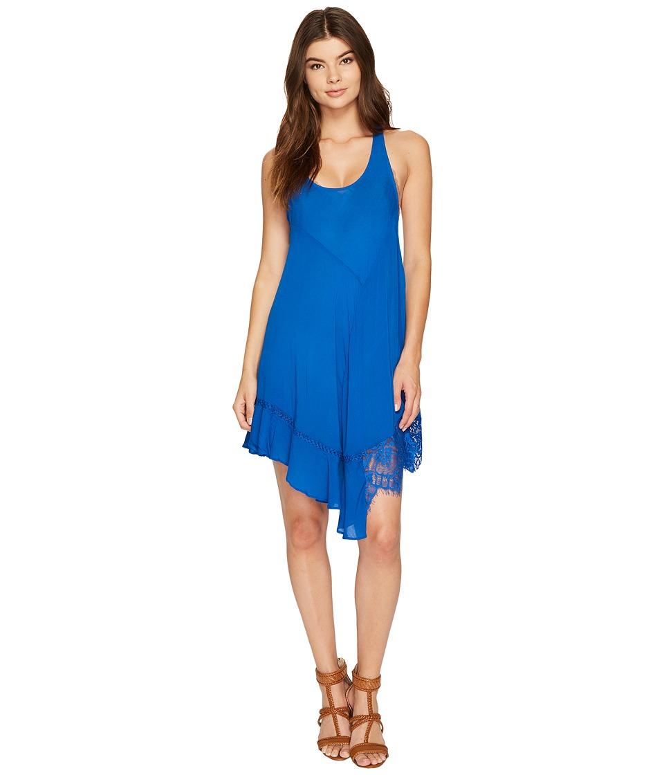 Free People Asymmetrical Hem Slip (Blue) Women