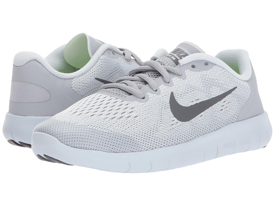 Nike Kids Free RN 2 (Big Kid) (Pure Platinum/Dark Grey/Wolf Grey) Boys Shoes