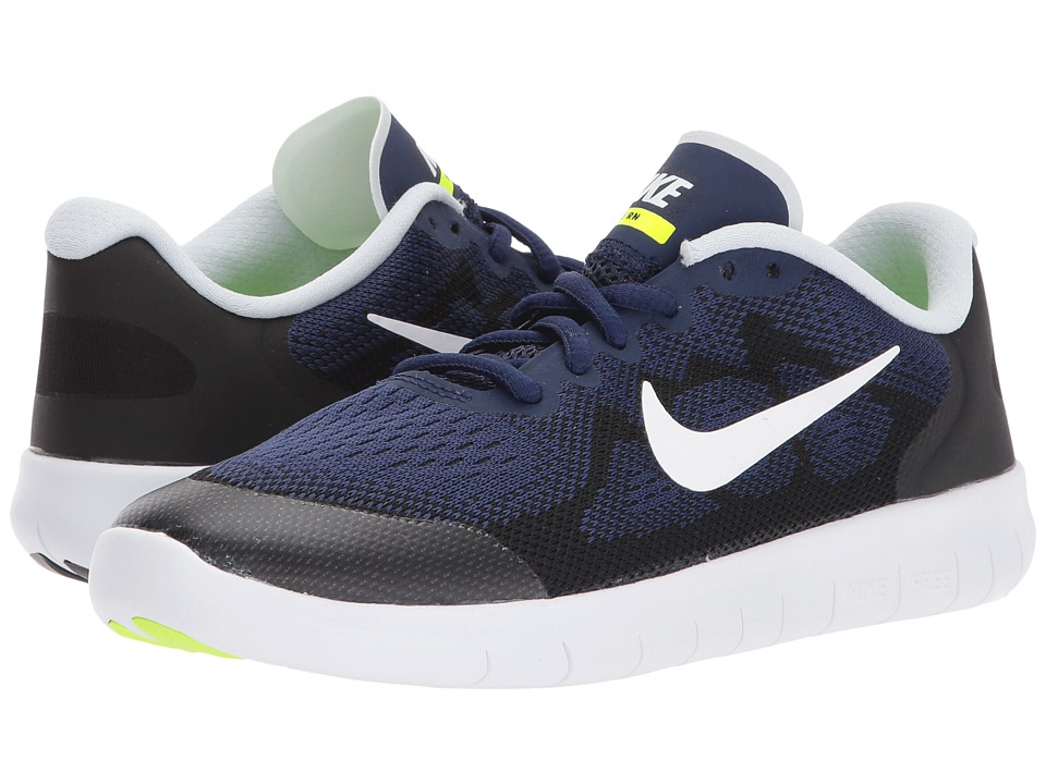 Nike Kids Free RN 2 (Big Kid) (Binary Blue/White/Black/Volt) Boys Shoes