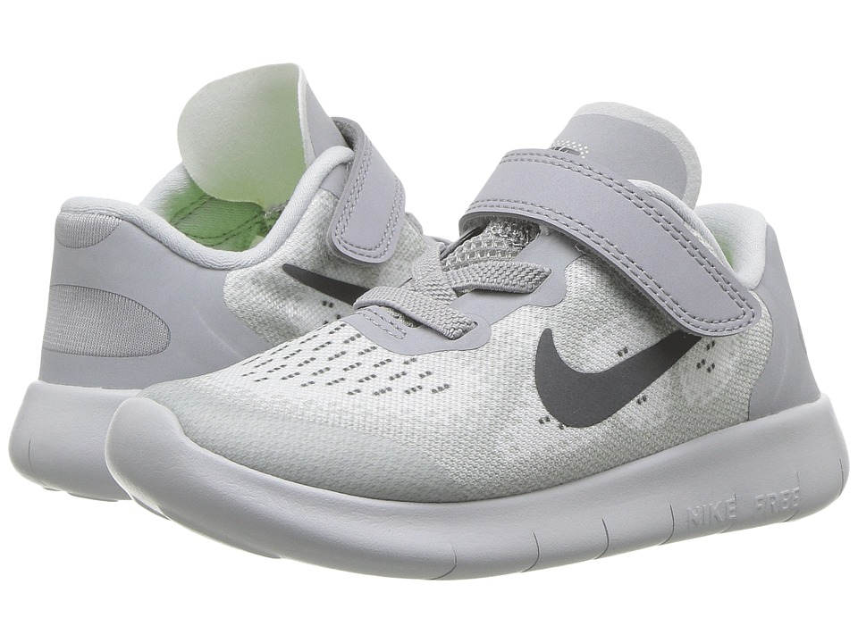 Nike Kids Free RN 2017 (Infant/Toddler) (Pure Platinum/Dark Grey/Wolf Grey) Boys Shoes
