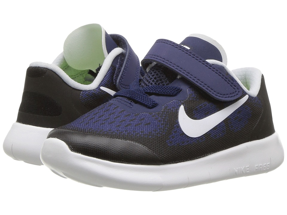 Nike Kids Free RN 2017 (Infant/Toddler) (Binary Blue/White/Black/Volt) Boys Shoes