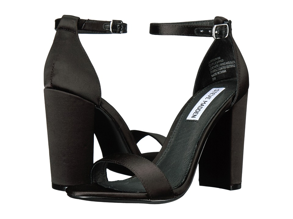 Steve Madden Carrson (Black Satin) High Heels
