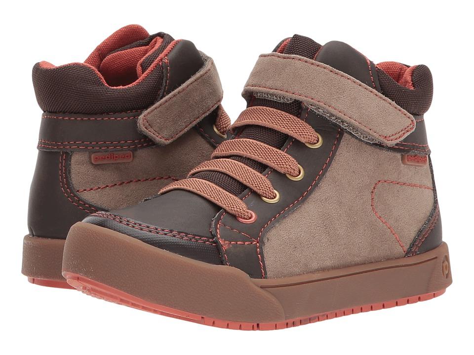 pediped Logan Flex (Toddler/Little Kid/Big Kid) (Chocolate) Kid's Shoes