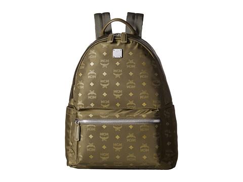 MCM Dieter Monogrammed Nylon Medium Backpack - Loden Green