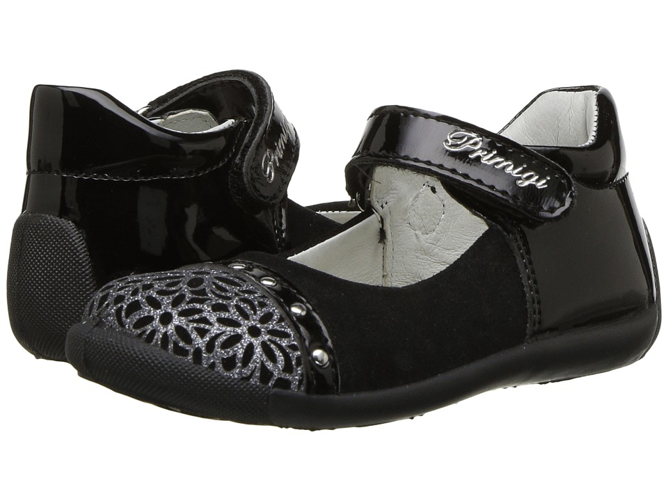 Primigi Kids PSU 8517 (Infant/Toddler) (Black) Girl's Shoes
