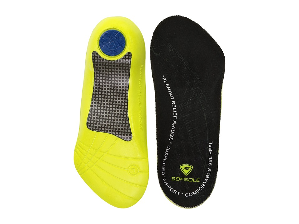 Sof Sole - Plantar Fascia 3/4 Insole (Black) Womens Insoles Accessories Shoes