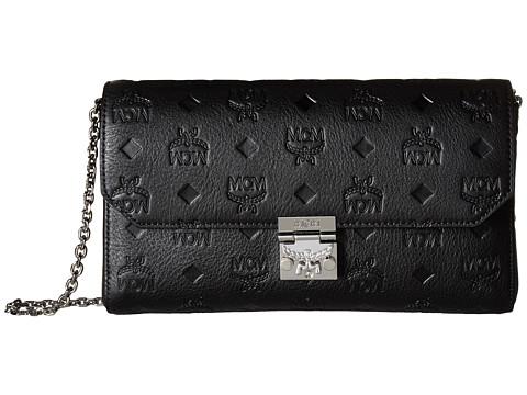 MCM Millie Monogrammed Leather Small Crossbody - Black