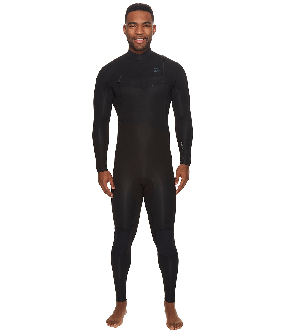 Image of Billabong - 4/3 Revolution Tribong Chest Zip Fullsuit (Black) Men's Wetsuits One Piece