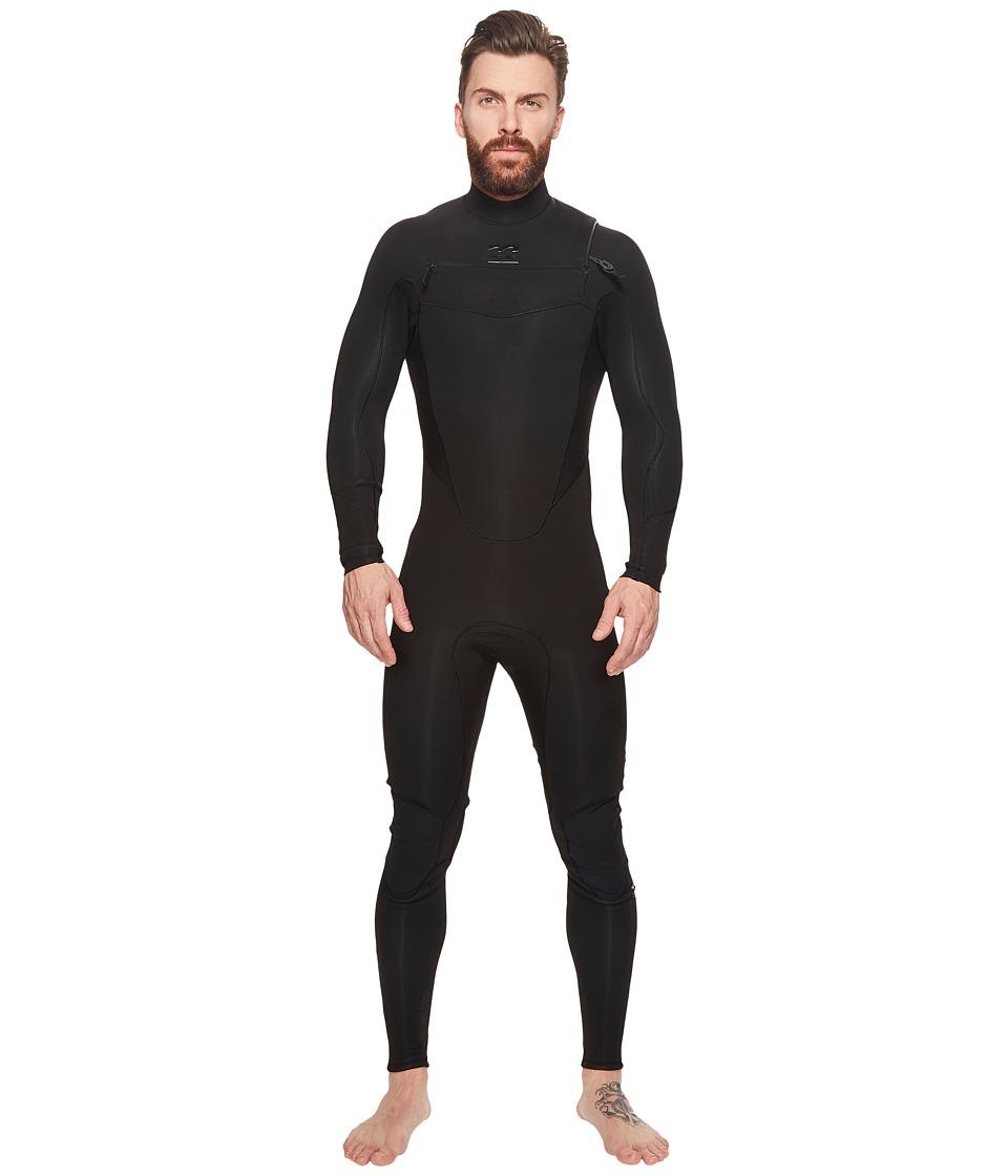 Image of Billabong - 4/3 Absolute Comp Chest Zip Fullsuit (Black) Men's Wetsuits One Piece