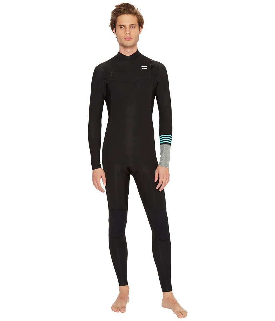 Billabong - 302 Revolution Tri Bong Chest Zip (Black 2) Men's Wetsuits One Piece
