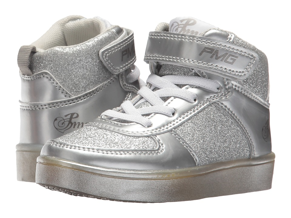 Primigi Kids PTL 8348 (Toddler/Little Kid/Big Kid) (Silver) Girl's Shoes