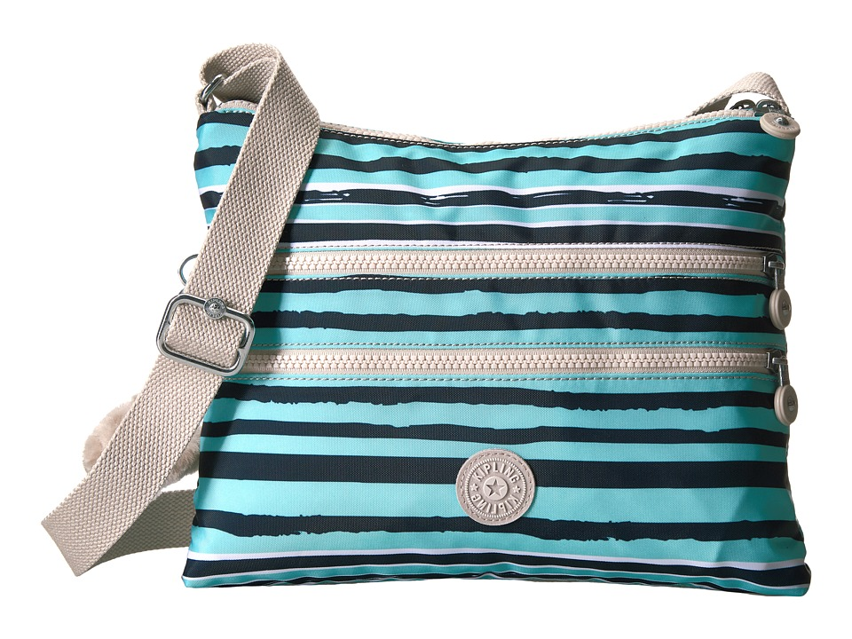 Kipling - Alvar Printed Crossbody Bag (Spectacle Stripe) Cross Body Handbags