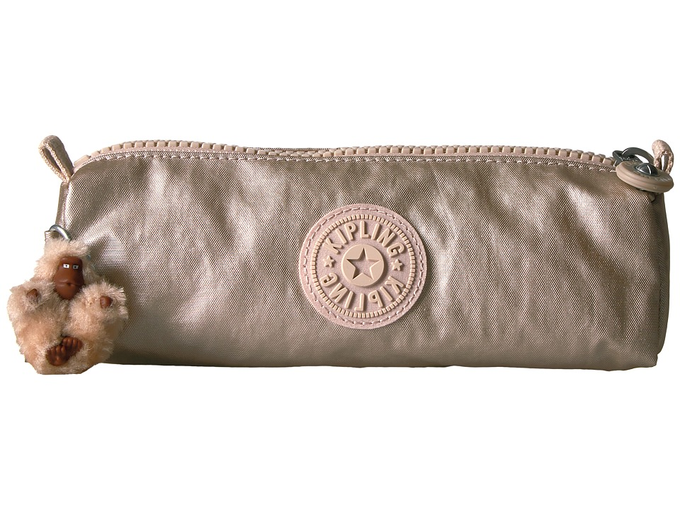 Kipling Freedom Pen Case/Cosmetic Bag (Sparkley Gold) Cosmetic Case