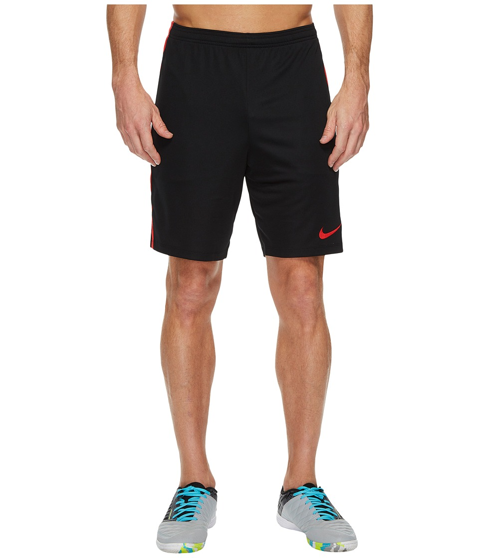 Nike Dry Academy Soccer Short (Black/University Red/University Red) Men