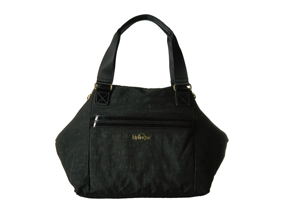 Kipling Art Small (Black Patent Combo) Satchel Handbags