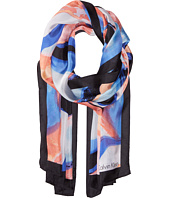 Calvin Klein - Swirl Abstract Silk Scarf