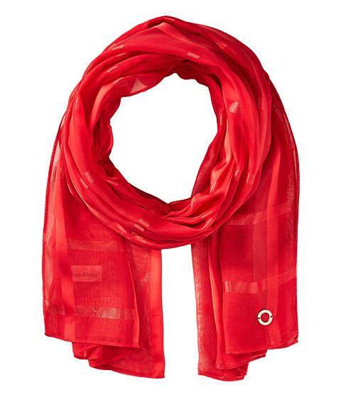 Calvin Klein Solid Shadow Stripe - Rouge