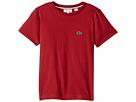 Lacoste Kids - Short Sleeve Solid Crew T-Shirt (Toddler/Little Kids/Big Kids)