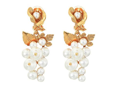 Oscar de la Renta Baroque Pearl C Earrings - Pearl