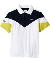 Lacoste Kids - Short Sleeve Color Block Polo (Little Kids/Big Kids)