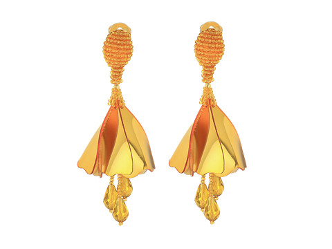 Oscar de la Renta Small Impatiens C Earrings - Gold