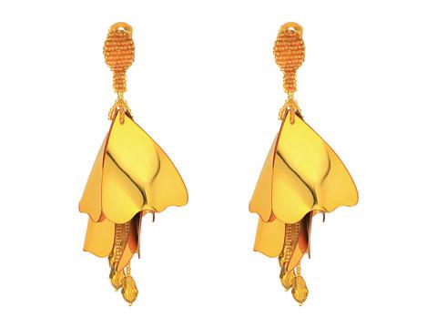 Oscar de la Renta Large Impatiens C Earrings - Gold
