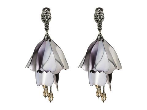 Oscar de la Renta Large Impatiens C Earrings