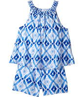 Tommy Hilfiger Kids - Printed Smocked Halter Romper (Big Kids)